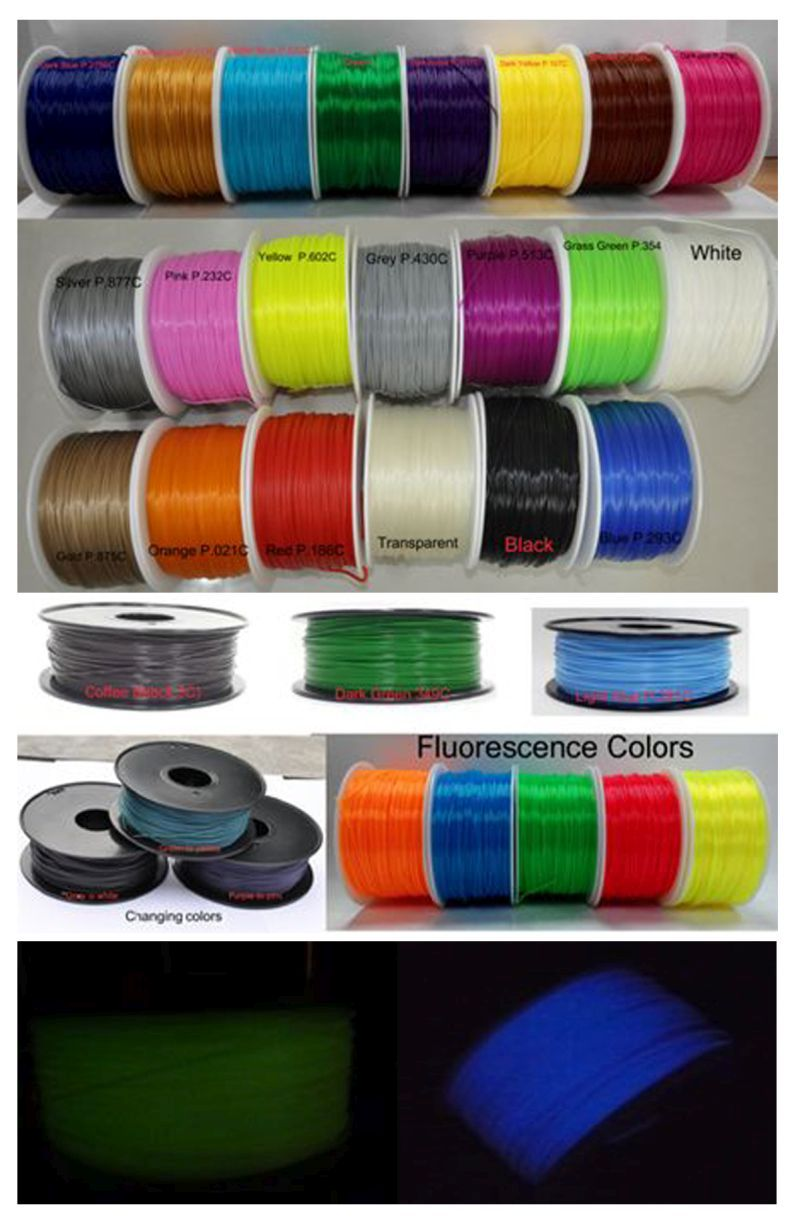 Synergy 21 3D Filament ABS /Changing color /3 mm